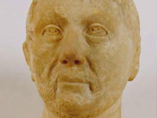 Roman marrble head darker